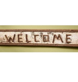 Welcome Rustic Twig Wood Sign