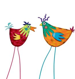 Tracy Pesche Hot Chicks Garden Stake - Orange