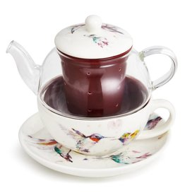 Dean Crouser Hummingbird Tea Pot Set