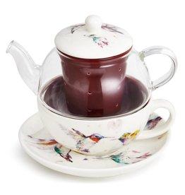 Dean Crouser Hummingbird Tea Pot Set