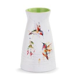 Dean Crouser Summer Hummingbirds Vase
