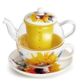 Dean Crouser Sunflower Tea Pot Set