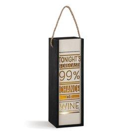 Tonight's Forecast Wine Lantern
