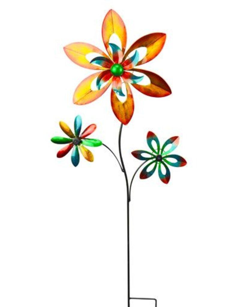 Triple Flower Multi-Color Spinner