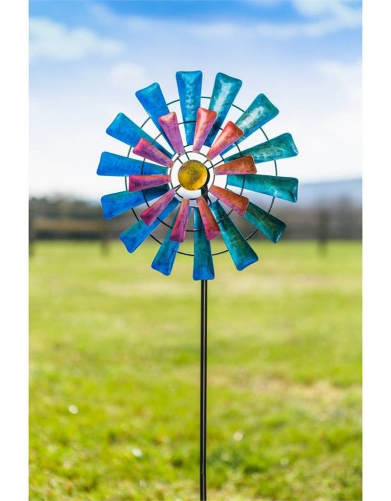 Blue & Pink Windmill Spinner