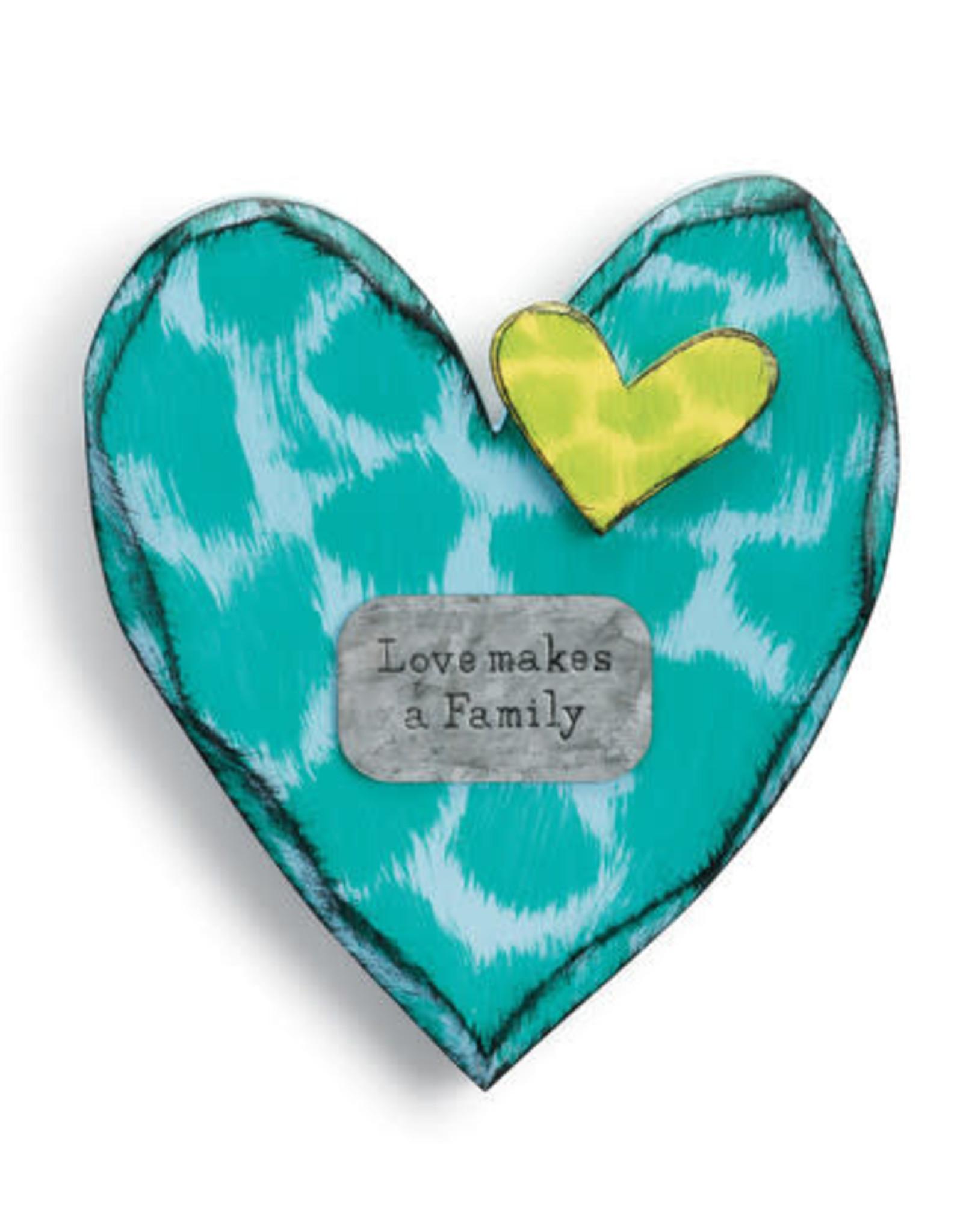 Love Makes a Family Wall Heart
