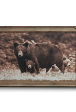 Black Bear Family - Barnwood Wall Art