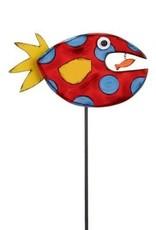 Tracy Pesche Fish Garden Stake - Red