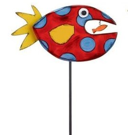 Tracy Pesche Fish Garden Stake - Red