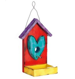 Tracy Pesche Heart Birdhouse - Red
