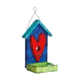 Tracy Pesche Heart Birdhouse - Blue