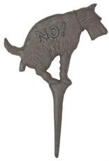 Garden Stake - No Pooping Dog