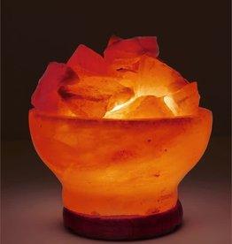 Himalayan Salt Lamp - Pink Round Firebowl