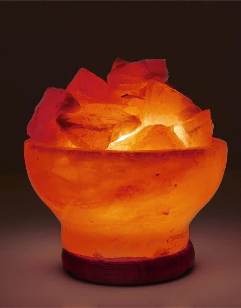 Himalayan Salt Lamp Pink Round Firebowl
