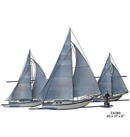 At The Races (3 Sail Boats)