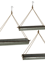 3-Piece Galvanized Metal Hanging Planters