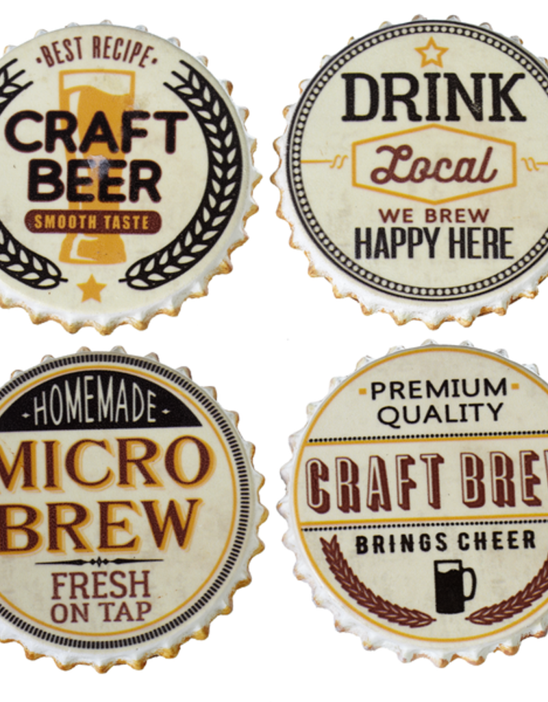 4-pack Bottle Cap Coasters