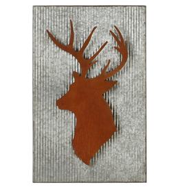Galvanized Deer Silhouette Wall Décor