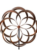 Kinetic Wind Spinner Stake - Bronze Bloom