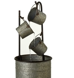 Galvanized Metal Bucket Fountain