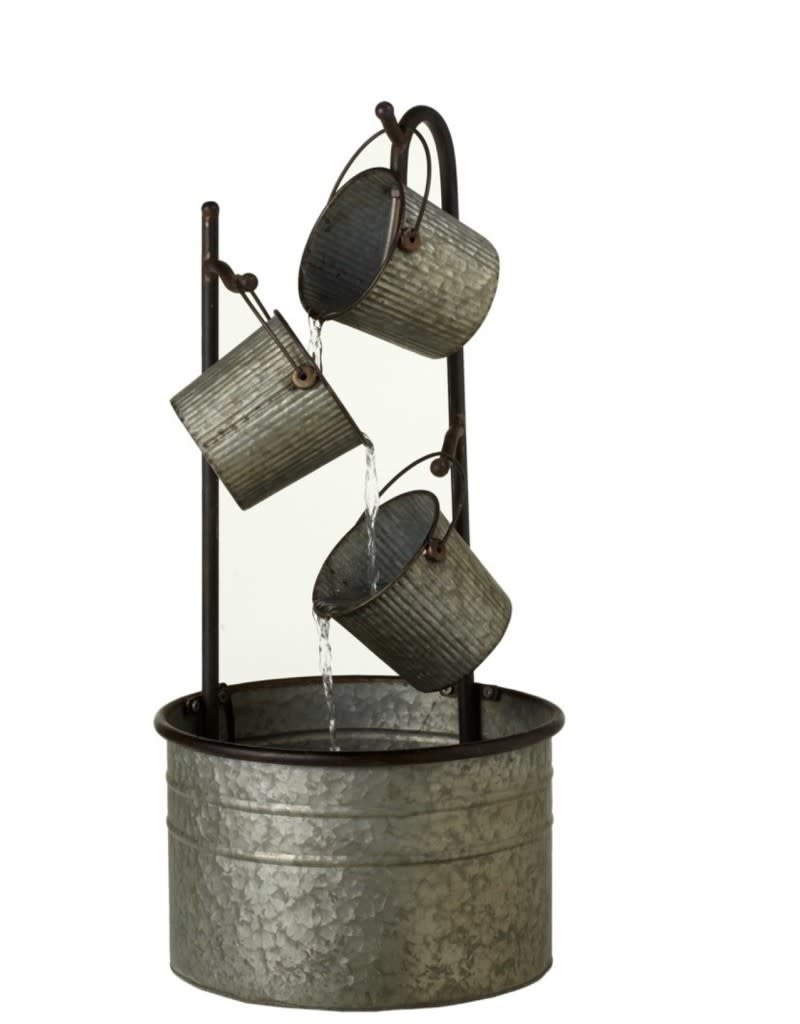 Galvanized Metal Bucket Fountain