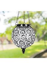 Solar Hanging Lantern - Round Clear