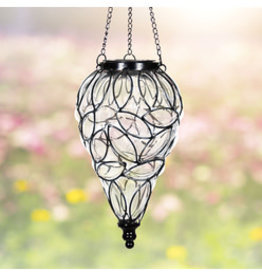 Solar Hanging Lantern - Clear Teardrop