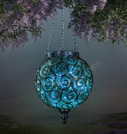 Solar Lantern - Blue Round