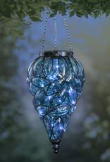 Solar Hanging Lantern - Blue Teardrop