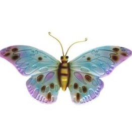 Metal Purple Wall Butterfly
