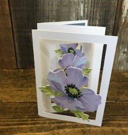 Christine Saksewski Purple Hibiscus Card