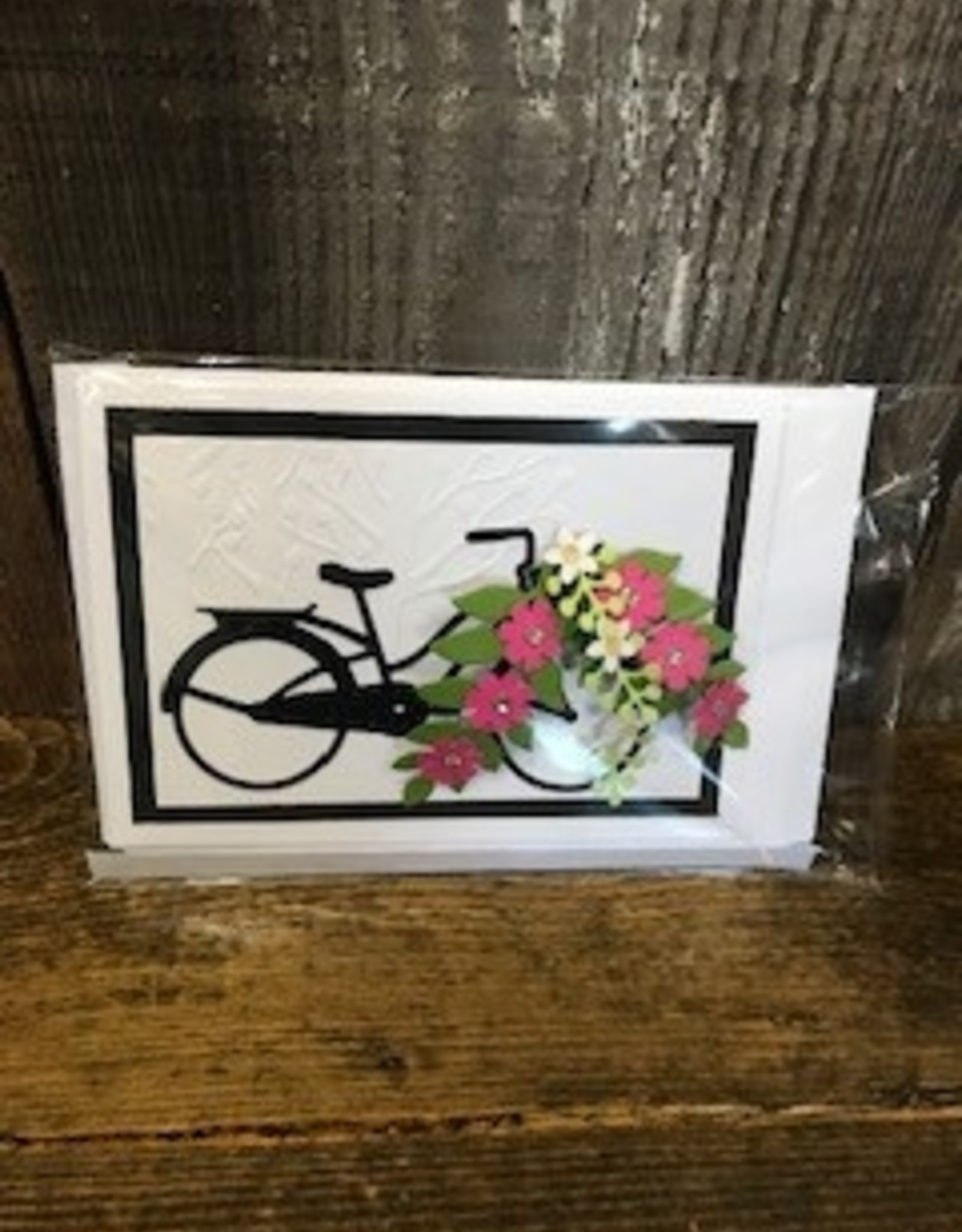 Christine Saksewski Bicycle with Flower Basket - BP