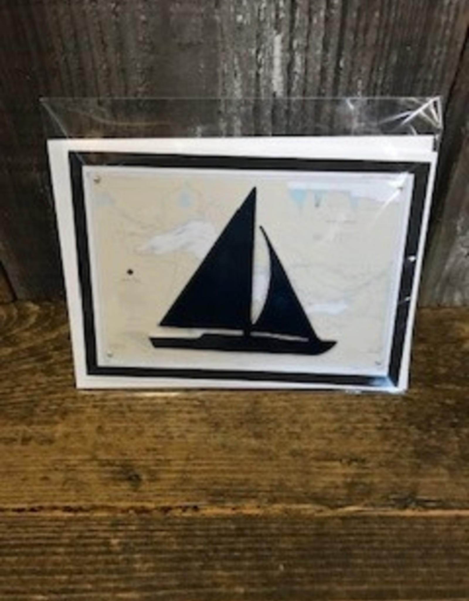 Christine Saksewski Michigan Destination - Sailboat Card