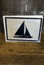 Christine Saksewski Michigan Sailboat Card