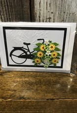 Bicycle with Flower Basket Card - BY
