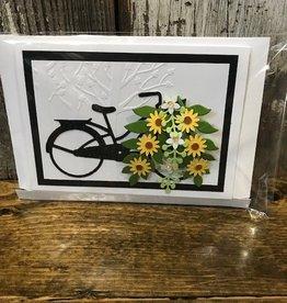 Christine Saksewski Bicycle with Flower Basket Card - BY