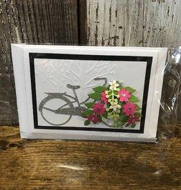Christine Saksewski Bicycle with Flower Basket - SP