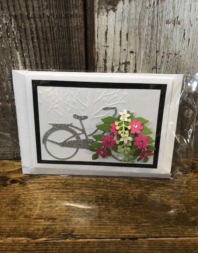 Bicycle with Flower Basket - SP