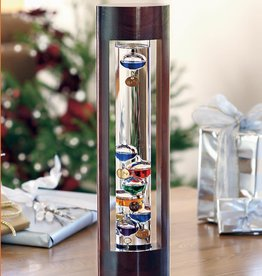Galileo Thermometer with Cherry Frame