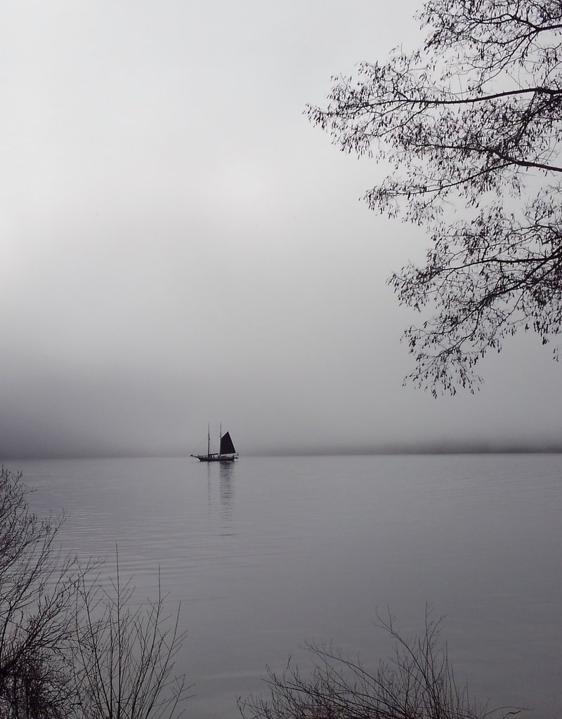 """A Foggy Morning - Signed 5"""" x 7"""" Matted Print"""