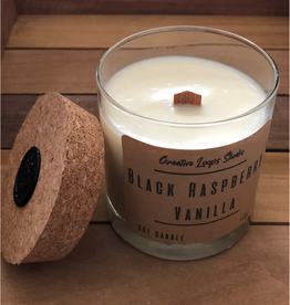 Black Raspberry & Vanilla Handpoured Soy Candle