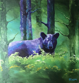 Ram Lee Art Ram Lee Original - Bear in the Woods
