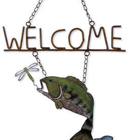 Catch of the Day Bass Welcome Sign