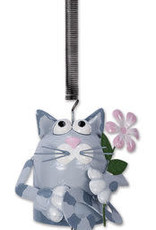 Cat Bouncy with Flower and Bell