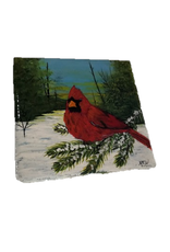 Handpainted Tile - Cardinal in Winter I