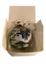 Handpainted Ornament - Chickadee on Tree
