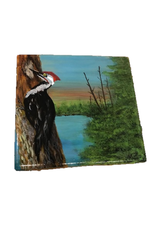 Handpainted Tile - Pileated On Tree