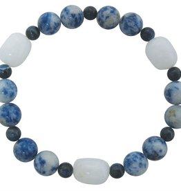 Fred Lawrence Bracelet - Lapis Lazuli, Quartz, & Sodalite