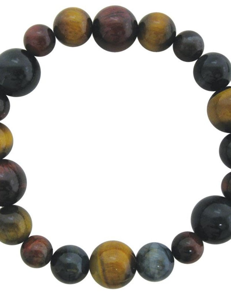 Bracelet - Blue, Red, & Golden Tiger's Eye