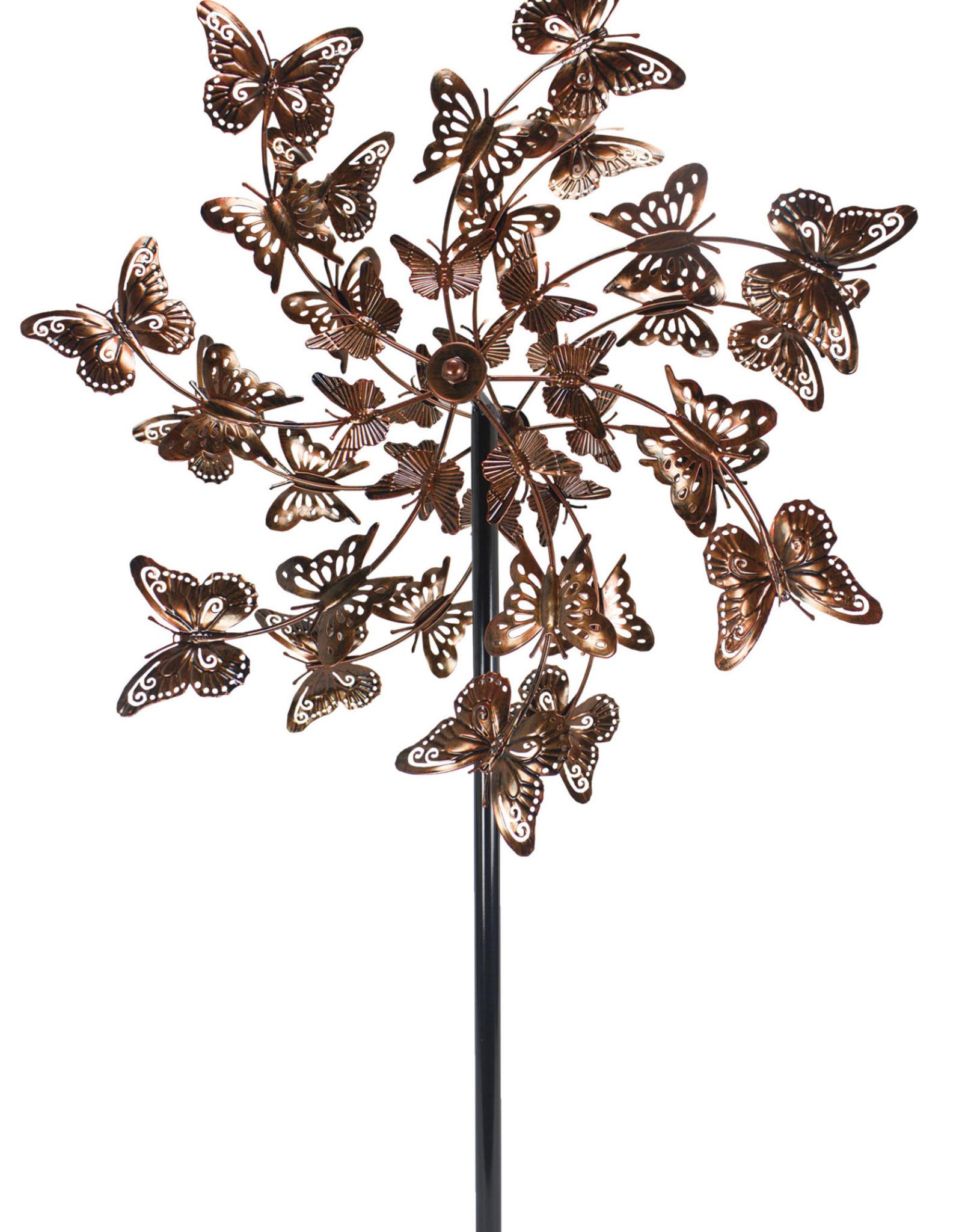 Kinetic Wind Spinner Stake - Bronze Butterfly